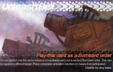 Unleash hell command card