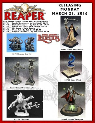 Reaper March Releases