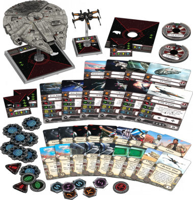 FF xwing heroes of the reisistance contents