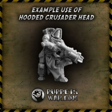 Hooded Crusader Heads (Example)