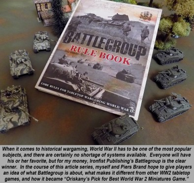 """Battlegroup"""" WW2 Tactical Wargame Part One – Introduction & Overview"""