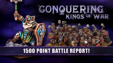 Conquering Kings Of War - Dwarfs & Basileans Vs Undead & Orcs Battle Report!