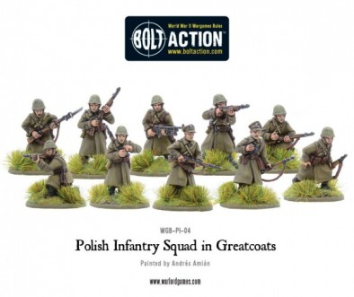 Polish Infantry In Greatcoats