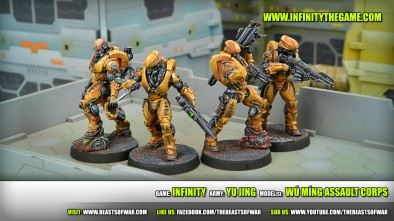 Game: Infinity Army: Yu Jing Model(s): Wú Míng Assault Corps