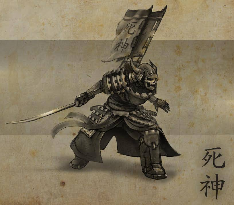 Puppets War Craft Concept Art For A Samurai Hero