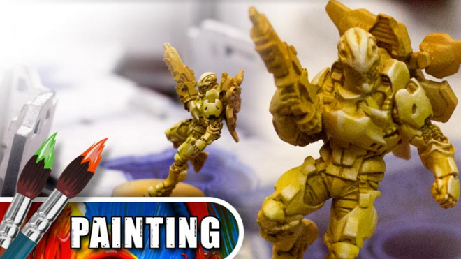 3 Colours Up – Painting Yellow Armour