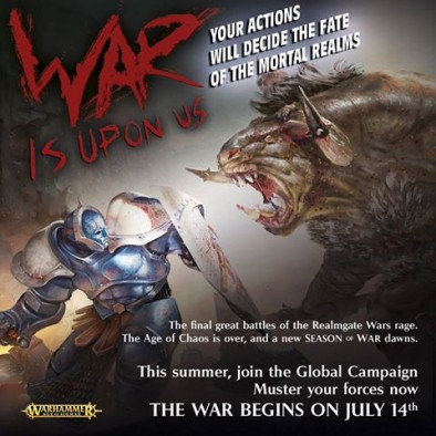 war is coming - age of sigmar
