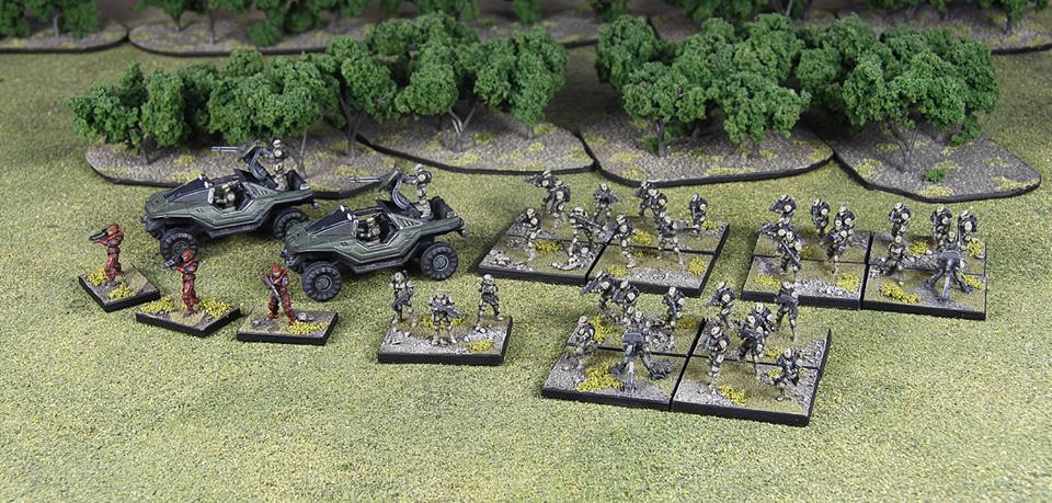 Spartan's Halo Ground Command Miniatures Painted Up