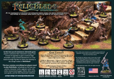 Relic Blade Two Player Battle Set (Back)