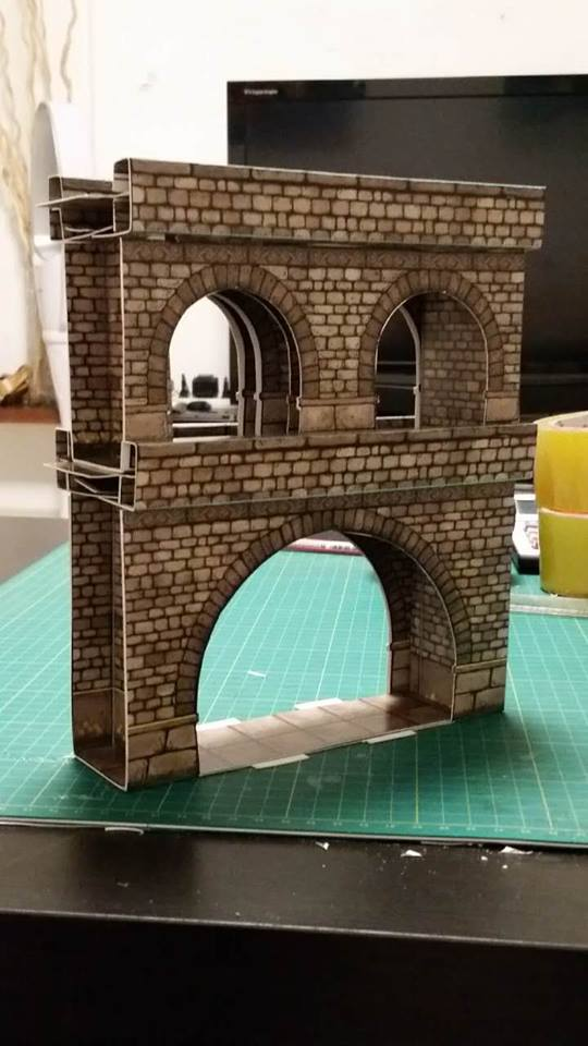 Stunning Cardstock Terrain From Collapsible Construction