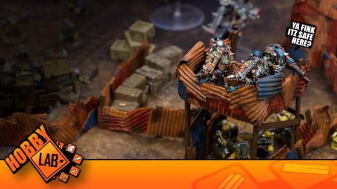 Hobby Lab: Orky Barricades Da Boss Wud Be Proud Of!