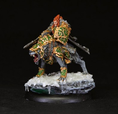 Wolf Lord Mounted #2 by brushstroke