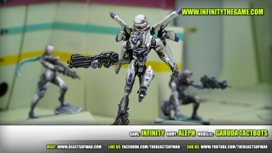 Game: Infinity Army: ALEPH Model(s): Garuda Tactbots