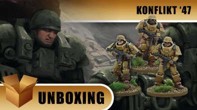 Konflikt '47 Unboxing: German Heavy Infantry