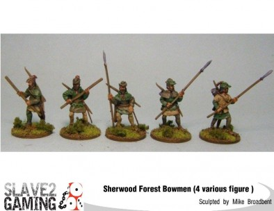 Forest Bowmen With Spears & Staves