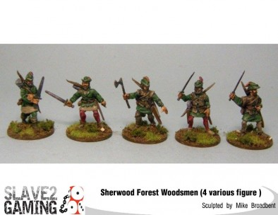 Forest Woodsmen With Axes & Swords