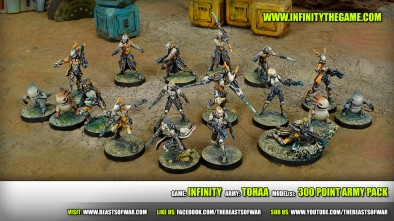 Game: Infinity Army: Tohaa Model(s): 300 Point army Pack