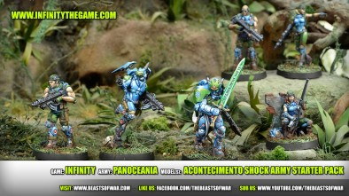 Game: Infinity Army: PanOceania Model(s): Acontecimento Shock Army Starter Pack