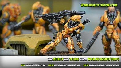 Game: Infinity Army: Yu Jing Model(s): Wu Ming Assault Corps