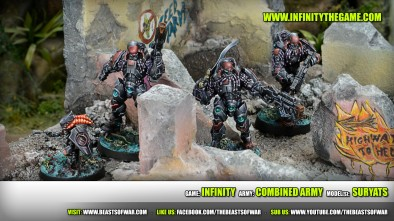 Game: Infinity Army: combined army Model(s): Suryats