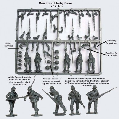 Union Infantry Sprue