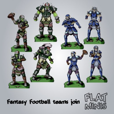 Fantasy Football Team (Flat Minis)