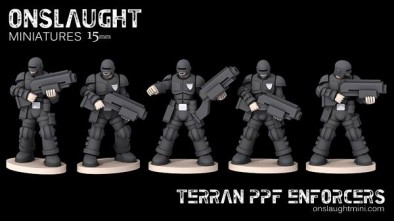 Terran Planetary Police Force 15mm