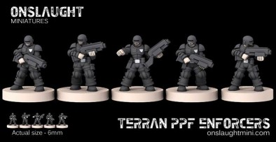 Terran Planetary Police Force 6mm