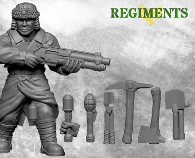 AI regiments trench fighters