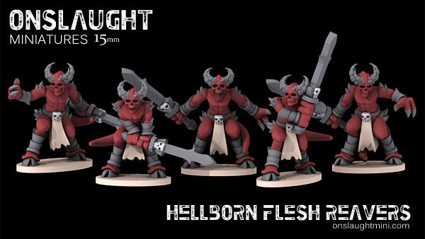 Onslaught Show Off Sci-Fi & Fantasy Hellborn In 10/15mm – OnTableTop