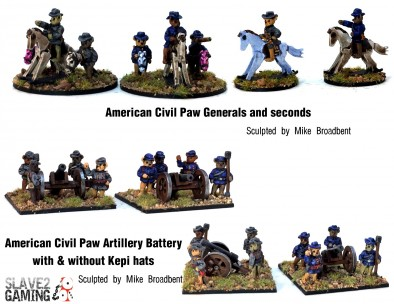 American Civil Paw Characters & Artillery