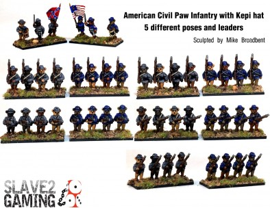 American Civil Paw Infantry