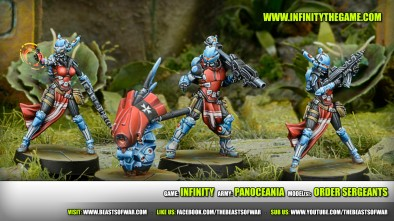 Game: Infinity Army: PanOceania Model(s): Order Sergeants