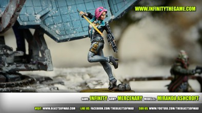 Game: Infinity Army: Mercenary Model(s): Miranda Ashcroft