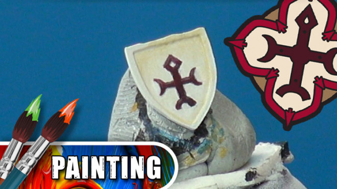 3 Colours Up: Painting Warmachine Emblems – Protectorate Of Menoth