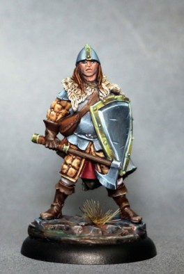 Male Warrior With Battle Axe & Shield