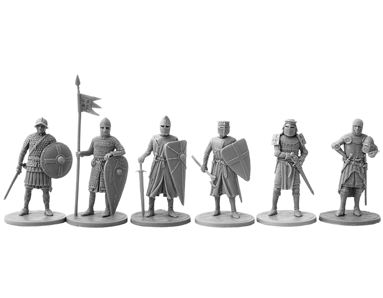 28mm Vikings & 40mm Knights Fight On From V&V Miniatures