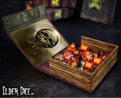 Elder dice open box