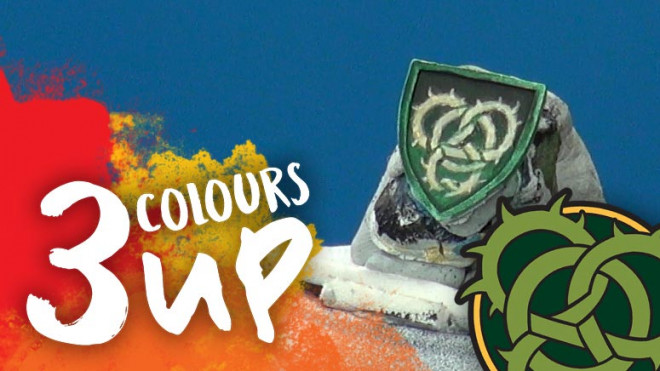 3 Colours Up: Painting Warmachine Emblems – Circle of Orboros