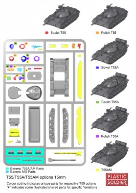 Soviet T55AM2B (Assembly Guide)