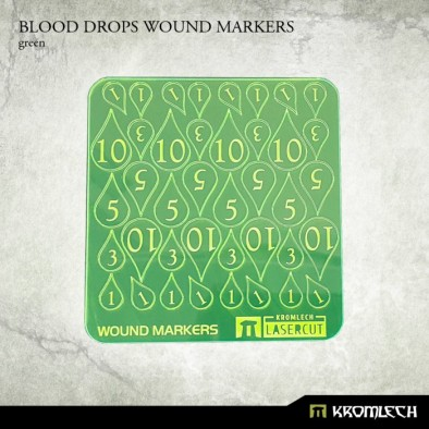 Blood Drop Wound Markers (Green)