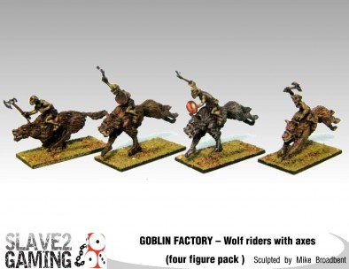 Goblin Wolf Riders With Axes