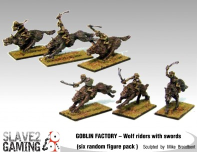 Goblin Wolf Riders With Swords