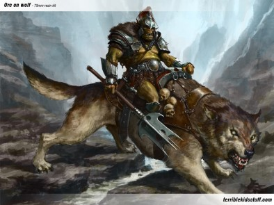 Orc On Wolf (Artwork)