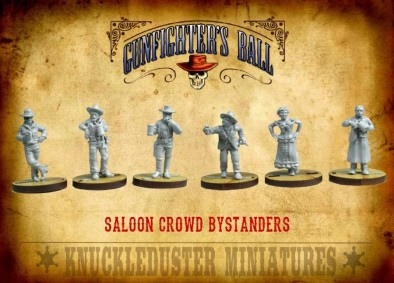 Saloon Crowd Bystanders