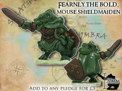 Fearnly The Bold - Mouse Shieldmaiden