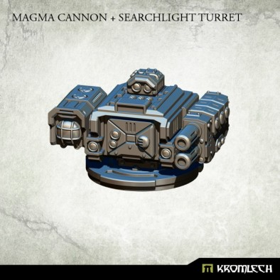 Magma Cannon and Search Light