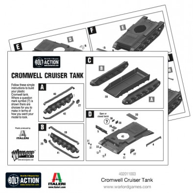 Warlord Games Cromwell Cruiser Tank Bolt Action Sprue