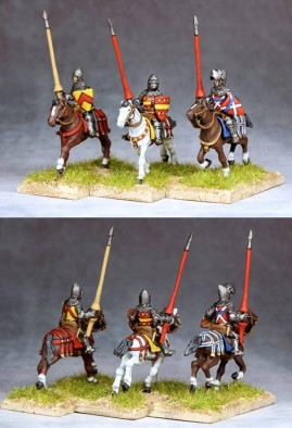 Mid-Late 14th Century Mounted Knights