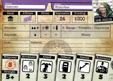 White Face Stat Card